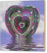 Heart Up Wood Print