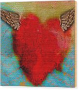 Heart Wings Wood Print