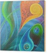 Heart Yin Yang Wood Print