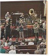 Heartbeat Dixieland Jazz Band Wood Print