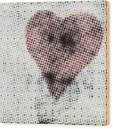 Hearts 21 Square Wood Print