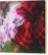 Hearts A Fire Wood Print