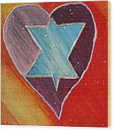 Hearts And Stars Forever Wood Print