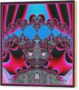 Hearts Ballet Curtain Call Fractal 121 Wood Print