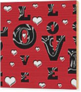 Hearts Of Love Wood Print