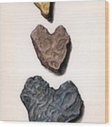 Hearts Rock Wood Print
