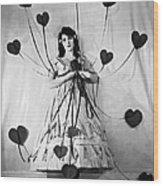 Hearts With Strings Attached Wood Print