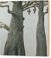 Heartwood Wood Print by Charlie Baird