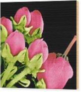 Heath Flowers Wood Print