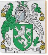 Heaton Coat Of Arms Irish Wood Print