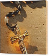 Heavenly Light Rosary  Wood Print