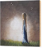 Heaven Heard Her Prayers Tonight By Shawna Erback Wood Print