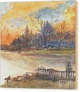 The Serene Sunset Wood Print