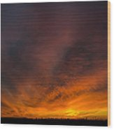 Heaven On Fire Wood Print
