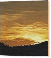 Heavenly Gold Sunset Wood Print