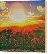 Heavenly Light. North Carolina Blue Ridge Wood Print