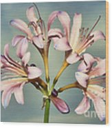 Heavenly Lilies Wood Print