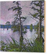 Heavenly Sunrise Wood Print by J Larry Walker