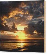 Heavenly Sunset Wood Print