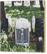 Heavenly Tractor Wood Print