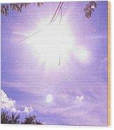 Heavens Blue  Wood Print