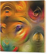 Heaven's Eyes - Abstract Art By Sharon Cummings Wood Print