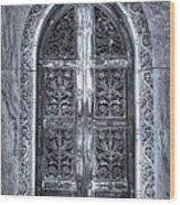 Heaven's Gate Bw Wood Print