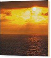 Heaven's Glow Wood Print