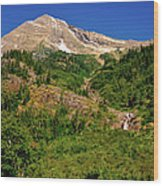 Heavens Peak Glacier International Peace Park Wood Print