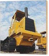 Heavy Construction Equipment Wood Print