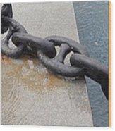 Heavy Duty Anchor Chain Wood Print