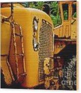 Heavy Equipment Wood Print