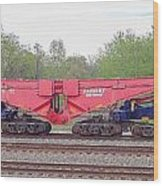 Heavy Lift 1m Pound Capacity Schnabel Railcar By Emmert International Wood Print
