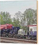 Heavy Lift 1m Pound Capacity Schnabel Train Set By Emmert International Wood Print