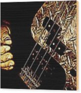 Heavy Metal Bass Wood Print