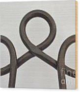 Heavy Metal Bends Wood Print