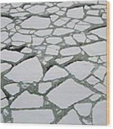 Heavy Pack Ice Terre Adelie Land Wood Print