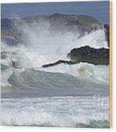 Heavy Surf Action Fernando De Noronha Brazil 1 Wood Print