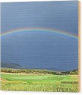 Heber Valley Rainbow Wood Print