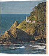 Heceta Head Lighthouse - Sunny Wood Print