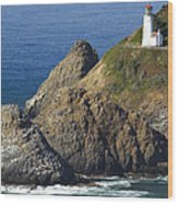 Heceta Head Lighthouse 2 F Wood Print