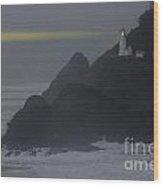 Heceta Head Lighthouse Oregon Coast Wood Print