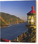 Heceta Head Moonrise Wood Print