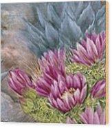 Hedgehog In Bloom Wood Print
