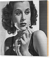 Hedy Lamarr - Beauty And Brains Wood Print