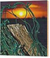Heeia Sunrise Wood Print