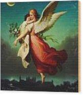 Heiliger Schutzengel  Guardian Angel 10 Pastel Wood Print