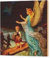Heiliger Schutzengel  Guardian Angel 11 Oil Wood Print