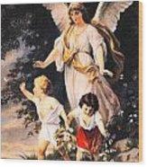 Heiliger Schutzengel  Guardian Angel 6 Pastel Wood Print