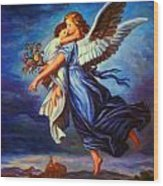 Heiliger Schutzengel  Guardian Angel 7 Oil Wood Print